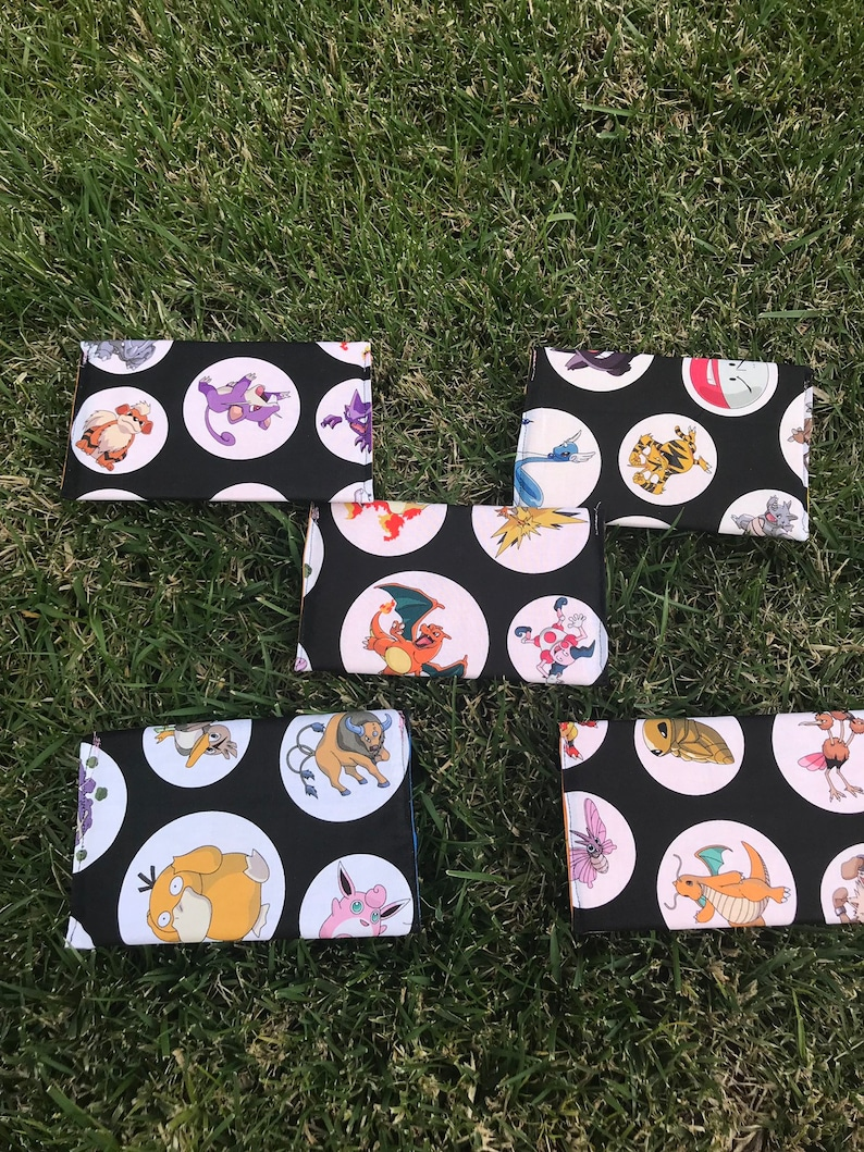 notions pouch crochet project bag Pokemon pencil pouch small craft project bag