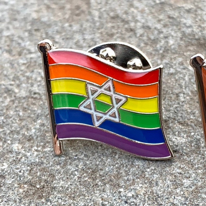LGBTQ Pride Star of David Jewish  Israel A Chicago image 0
