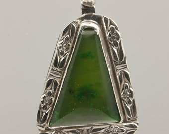 Sterling Silver Wyoming Jade Pendant