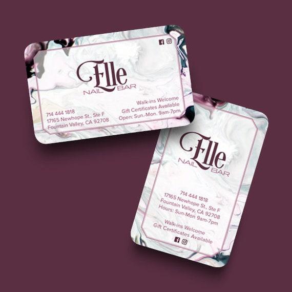 Carte De Visite Luxe Nail Bar Manucure Mobile Freelance
