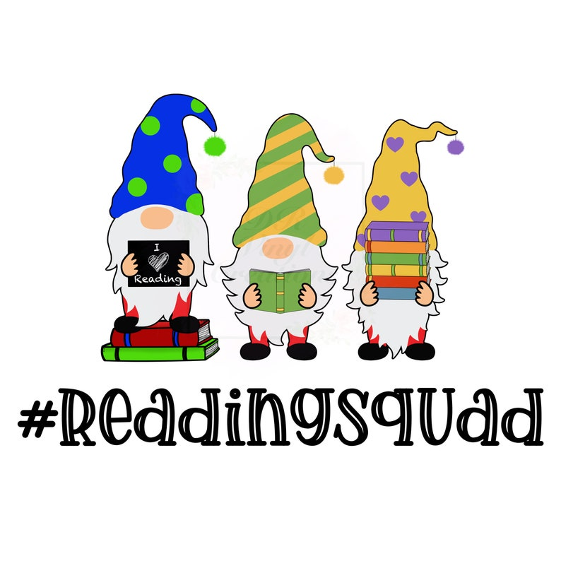Reading Squad Gnomes PNG DOWNLOAD