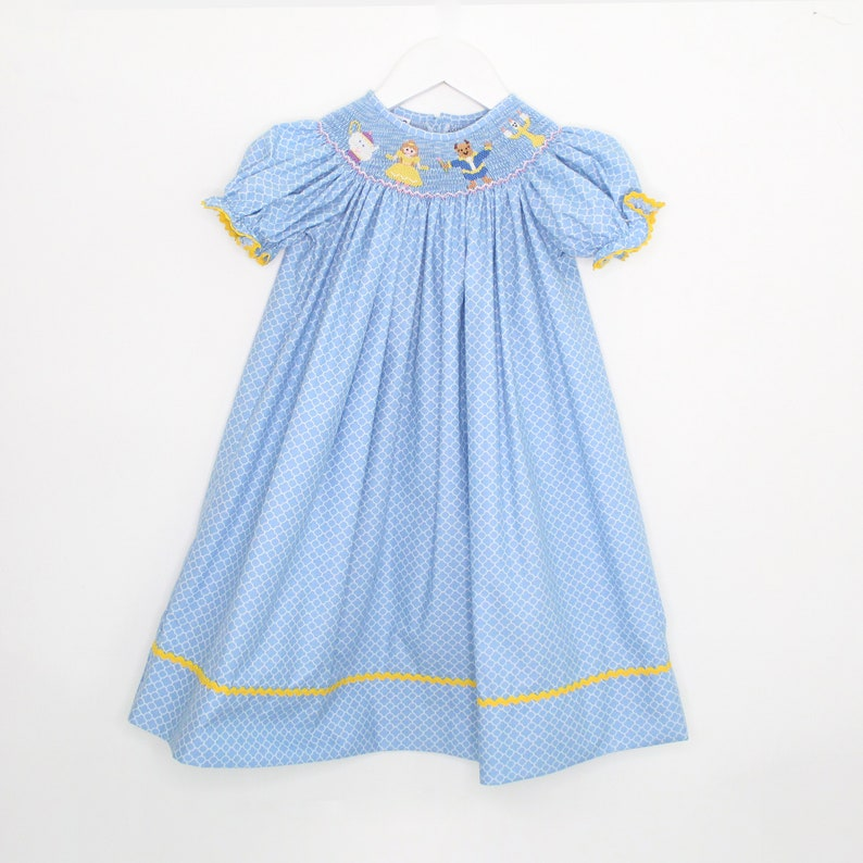 Smocked beauty and the Beast Dress