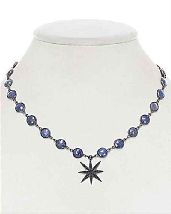 Sterling silver 925 black finish pave diamond pearls necklace with clasp price for 1 psc.