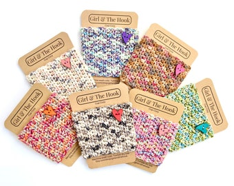 Crochet Cup Cozy With or Without Heart Embellishment - Reusable Knit Coffee Cozy - Coffee Cup Sleeve - Pick Your Color