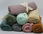 Organic Cotton Muslin Swaddle Blankets ~ Super Soft ~ * Large Size * Sweet Spring Colours. Lush Linens