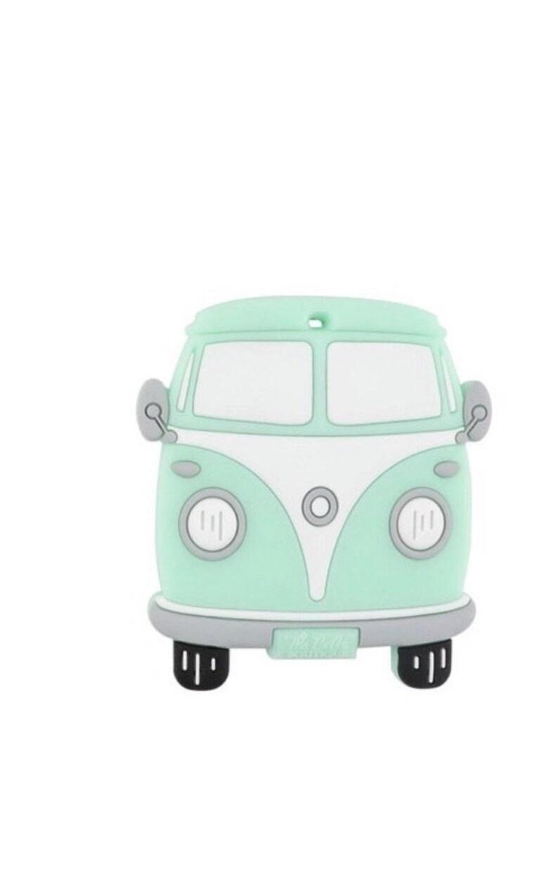Easy to Chew Dishwasher Safe Fun Bath Toy* VW Bus Silicone Teether