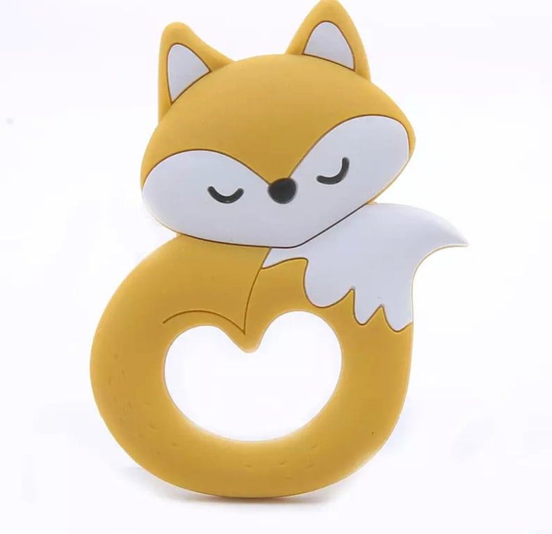 Sensory Cuddly Fox Food Grade Silicone Chewy Great Handheld