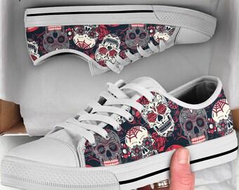 Skull shoes   Etsy
