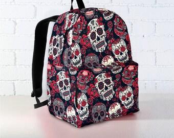 Sugar skull backpack | Etsy