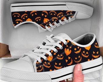 Halloween Decor Girl Canvas Comfortable Walking Shoes