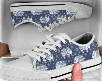 Dumbo Shoes Plimsolls Canvas Flat Shoes Embroidered Cute Elephant Cartoon Women