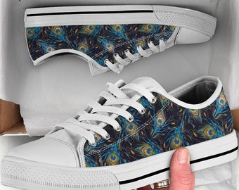 Peacock shoes   Etsy