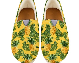 Women Casual Shoes Pineapple Shoes Pineapple Women Shoes Women Canvas Shoes Shoes With Pineapple Style Pineapple Gifts |