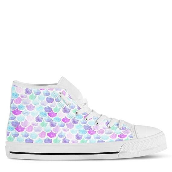 Mermaid Shoes | Mermaid Sneakers | Mermaid Women Shoes | Shoes With Mermaid Pattern | Mermaid Gift | Mermaid | Mermaid |
