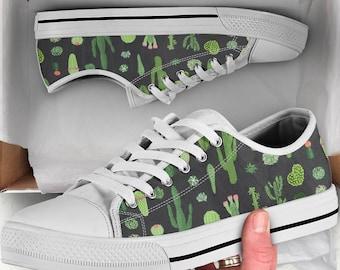 Cactus Shoes, Cactus Sneakers, Cactus Women Shoes, Cactus Kid Shoes, Shoes With Cactus, Cactus Sneakers Women