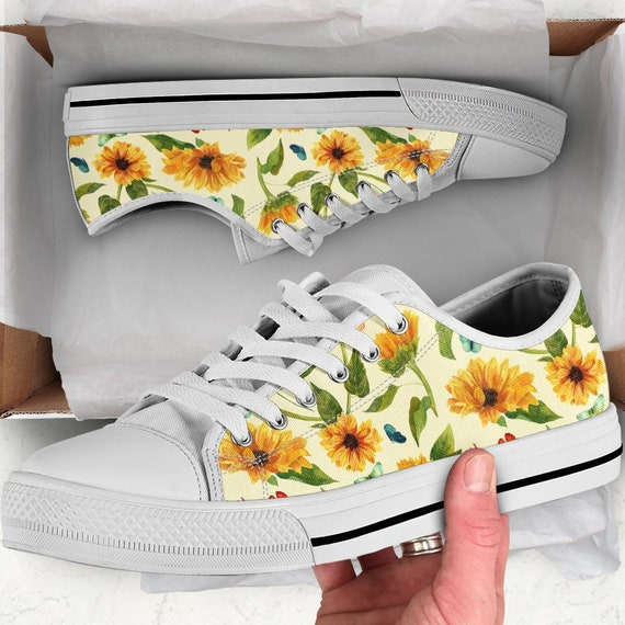Sunflower Shoes | Sunflower Sneakers | Sunflower Women Shoes | Shoes With Sunflower | Sunflower Wedding Theme | Sunflower Wedding Shoes