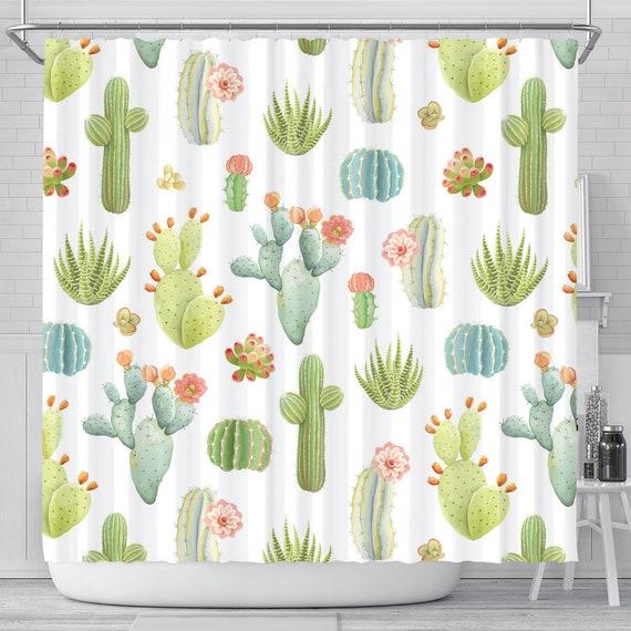 Cactus Shower Curtain Bathroom Decor