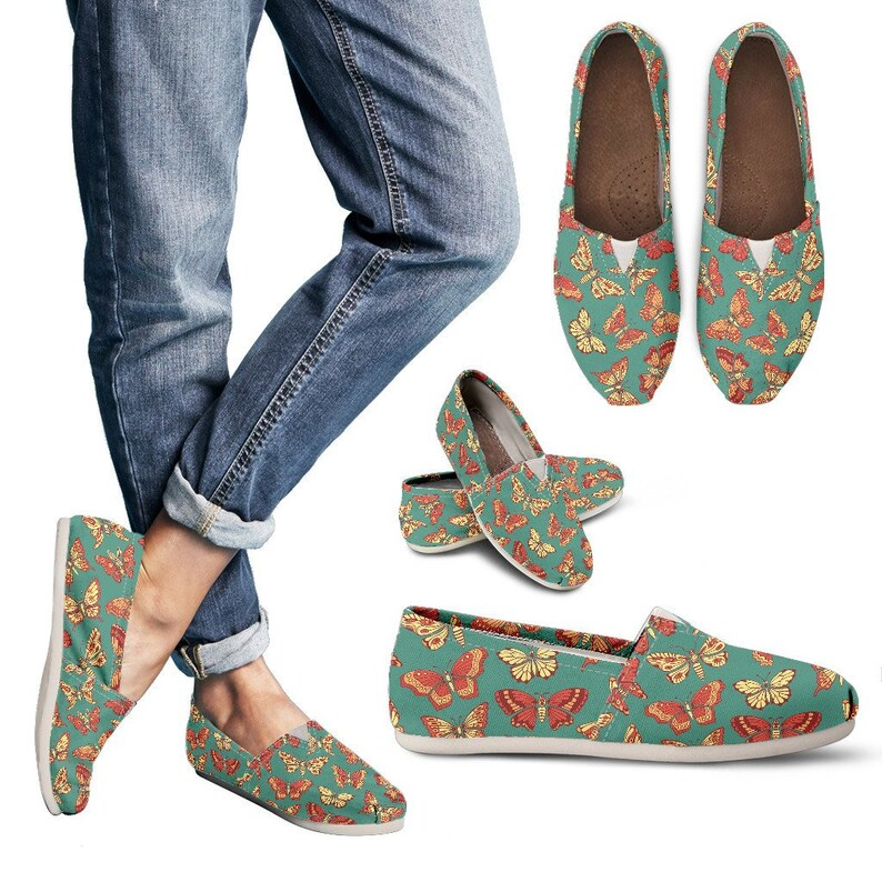 Butterfly Lovers Shoes Casual Shoes Butterfly Canvas Shoes Butterfly Shoes Canvas Shoes Gift For Butterfly Lovers. Shoes