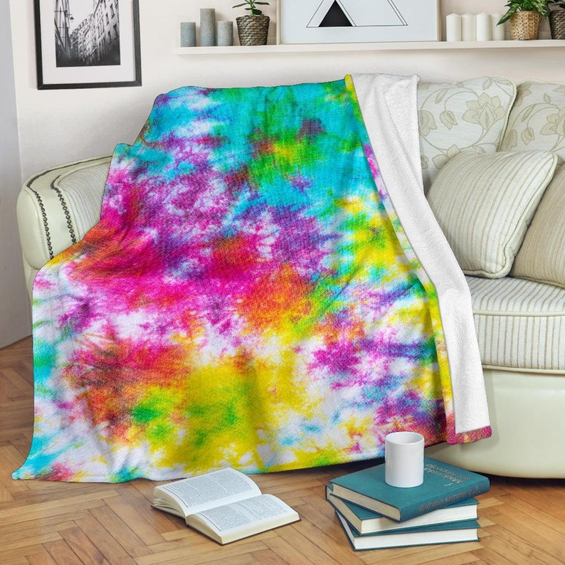 Tie Dye Blanket Tie Dye Throw Blanket Tie Dye Fleece