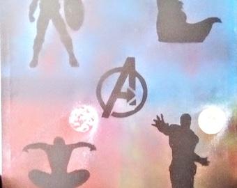 Avengers spray paint art