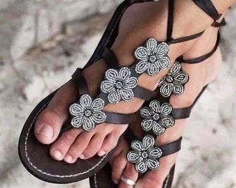 Neat beaded sandals
