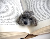 Needle felted Poodle dog Bookmark Felted dog realistic Poodle sculpture Gift Idea