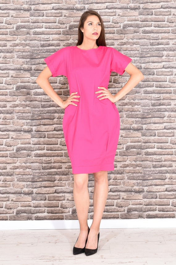 Pink Dress, Plus Size Dress, Dress For Women, Plus Size Clothing, Knee  Length Dress, Minimalist Dress, Oversized Dress, Spring Dress