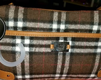 George plaid purse