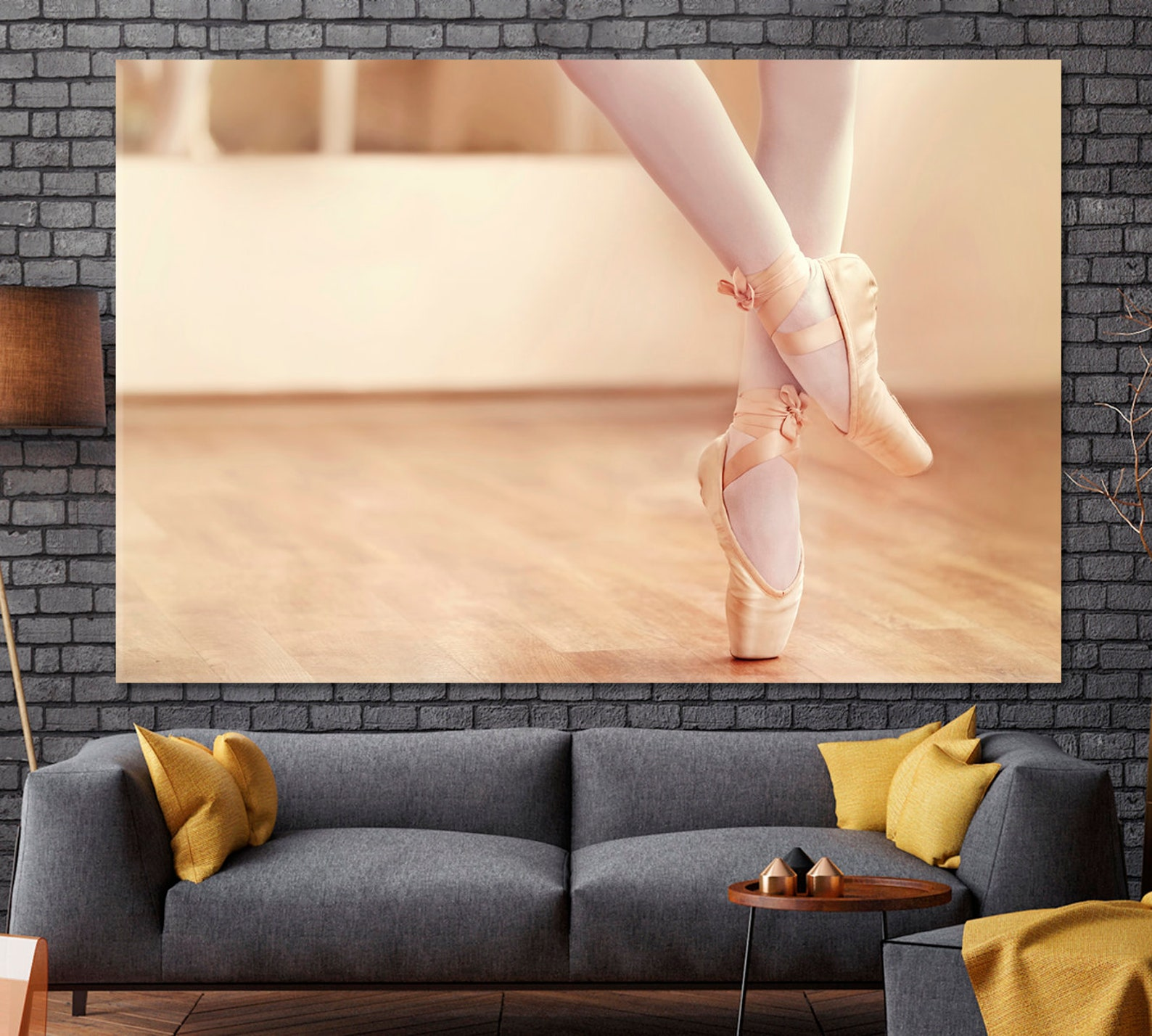 ballet canvas print, ballerina wall art, dancer artwork, ballet shoes poster, ballet modern decor, classic ballet art, ballet sc