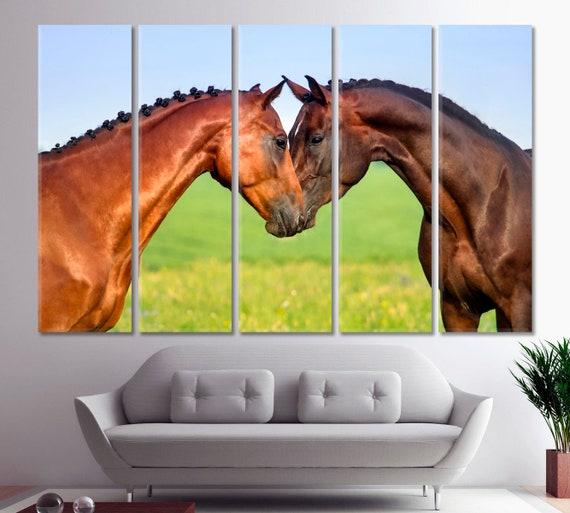 c1e6d23ca72 Couple Horse in Love Art Couple of Horses Wall decor Canvas