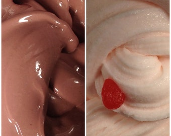 Chocolate & Strawberry Duo Slime 8oz