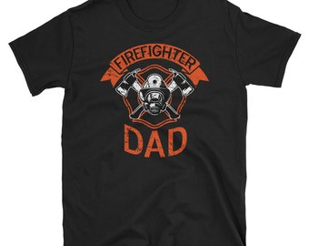 b5ae36f5 Firefighter Dad Shirt, Fathers Day Shirt, Fireman Dad Shirt, Cool Dad Shirts,  Gift For Firefighter, Vintage Dad Shirt, Present For Dad Shirt