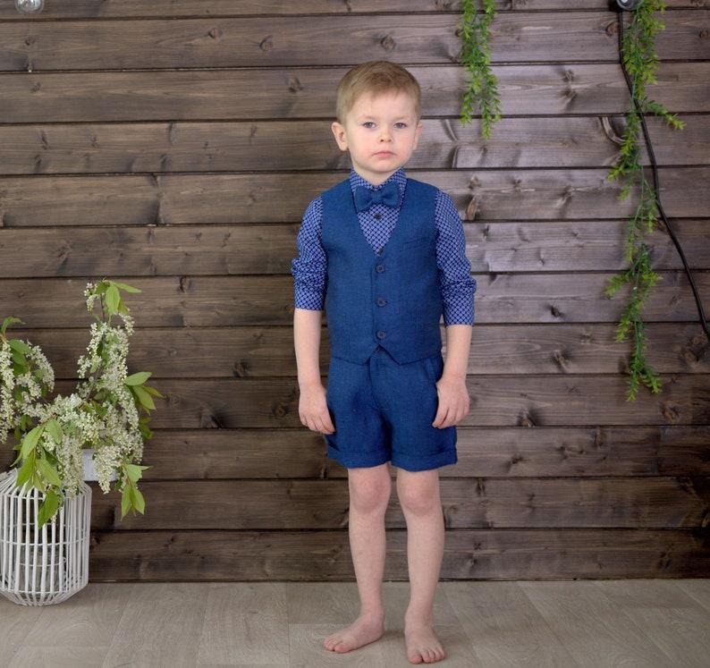 Personalised Page Boy Shorts Pyjamas Children/'s Wedding Groomsman Pjs Waistcoat