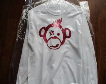 Crazy Monkey Long Sleeve T-Shirt - White