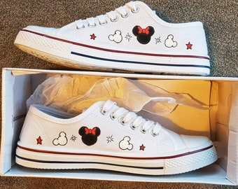 Minnie and Mickey mouse hand painted original shoes 47d2a58e2d67