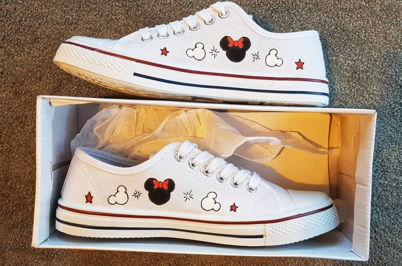 3b1f40e32d31 Minnie and Mickey mouse hand painted original shoes other