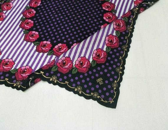 Vintage ANNA SUI Floral motive luxury cotton  han… - image 1