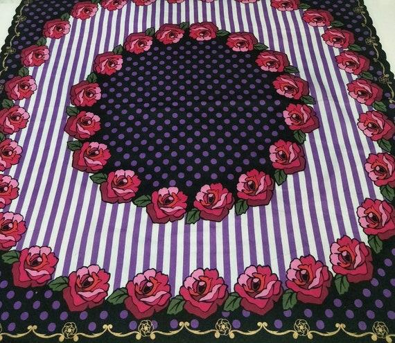 Vintage ANNA SUI Floral motive luxury cotton  han… - image 3