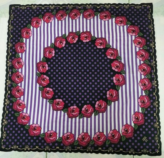 Vintage ANNA SUI Floral motive luxury cotton  han… - image 2