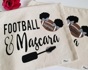 Makeup/Accessory Bag Football & Mascara