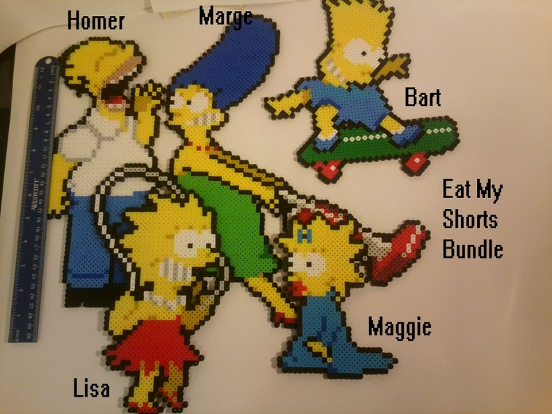 The Simpsons Arcade Perler Pixel Art