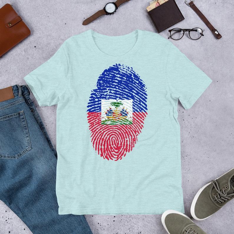 Haitian flag  Short-Sleeve Unisex T-Shirt image 0