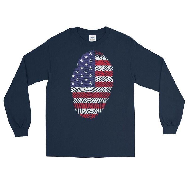 USA American Flag Long Sleeve T-Shirt image 0