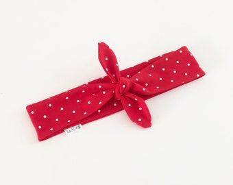 Red Polka Dot Headband Retro fashion for Women teen gift daughter gift from mum Rockabilly Headscarf 1950s fashion pin up style