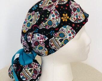 aadd585d6ee Candy Skull Scrub Hat