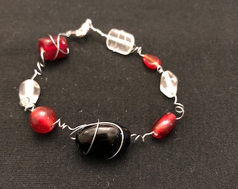 Black and Red Wire Bracelet