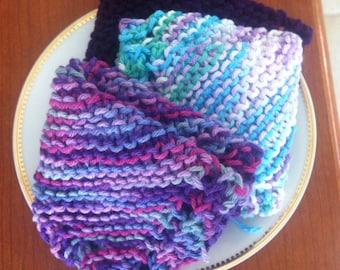 Knitted Dishcloth or Washcloth