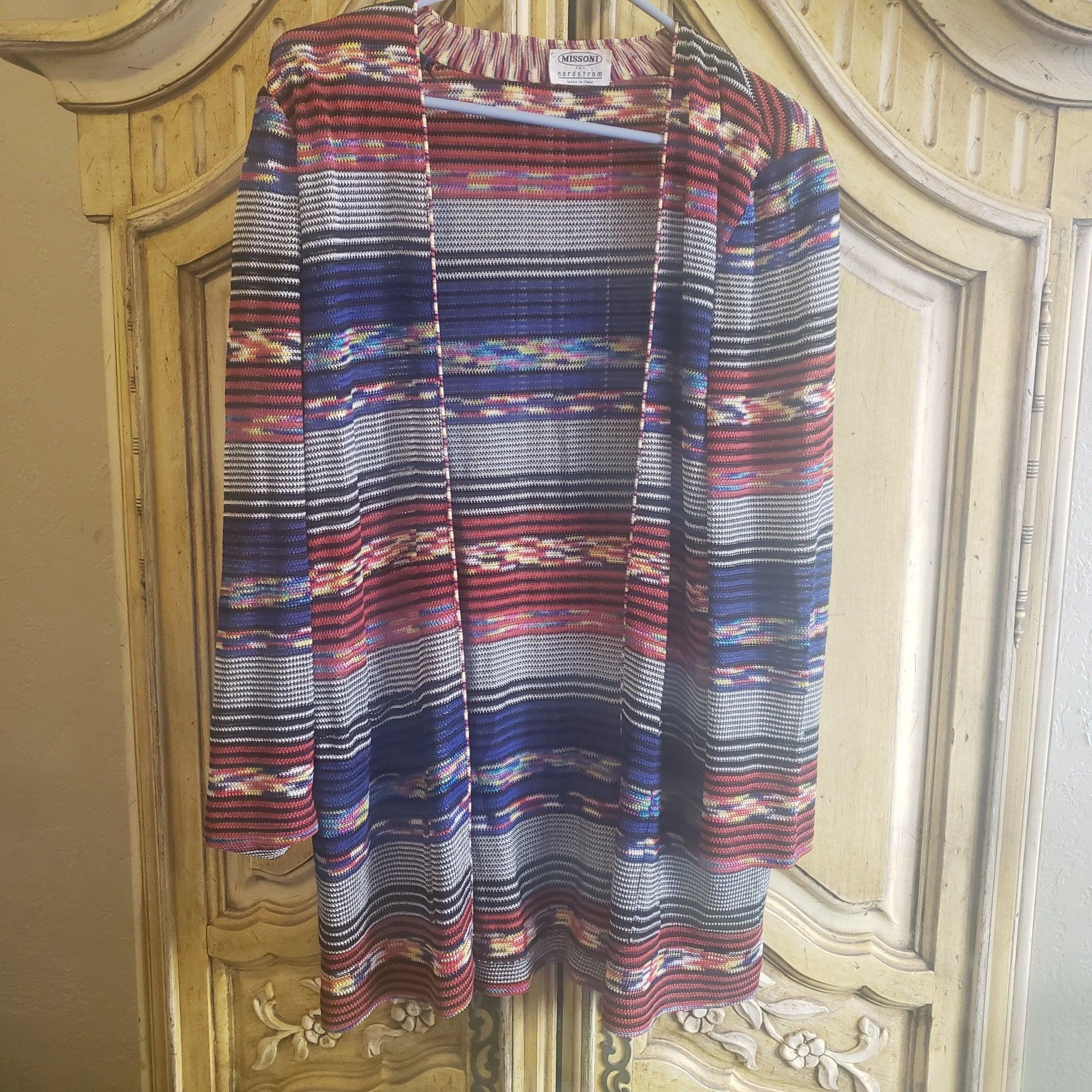 9cf05057e44 Vintage Missoni Open Front Cardigan