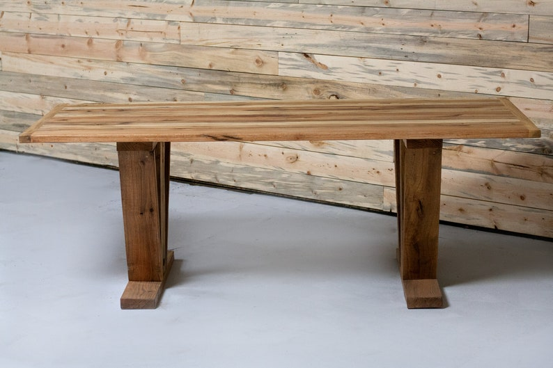 Reclaimed Wood Farmhouse Dining Table image 0
