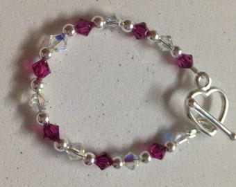 Baby/Toddler Swarovski Beaded Bracelet